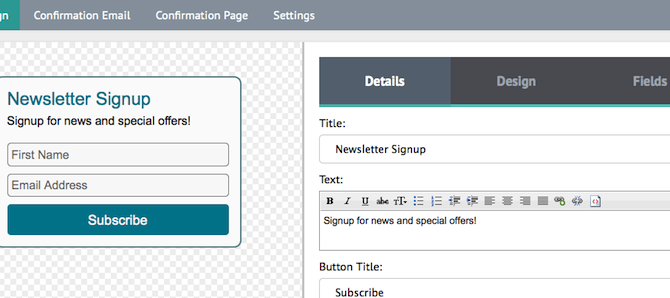 Creating an Embedded Signup Form for Your Website