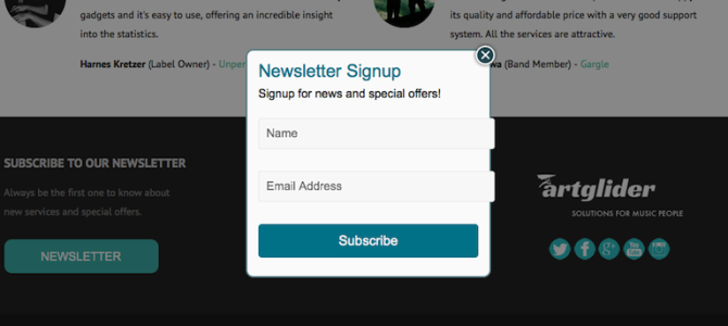 Create a Signup Form for Your Mailing List