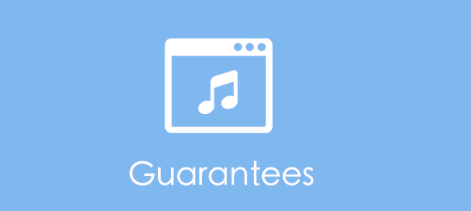 Service Level Guarantees for Music Websites